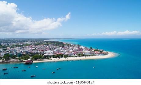 Zanzibar Tanzania from above.