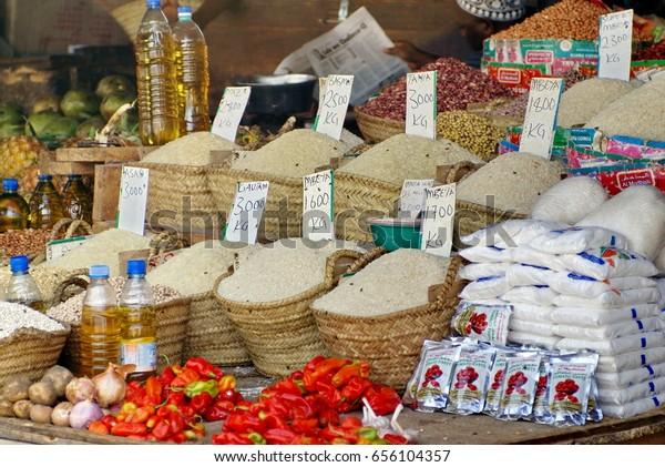 Zanzibar Tanzania Circa January 2014 Rice Stock Photo (Edit