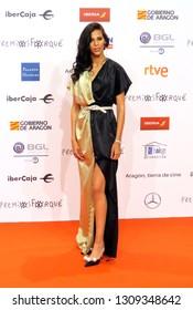 ZARAGOZA, SPAIN - January 12, 2019: Forque Awards 2019 - Red Carpet. Rosy Rodríguez