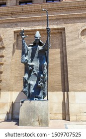 ZARAGOZA, SPAIN - MAY 26, 2017: This is a monument to Bishop San Valero, the patron saint of the city.