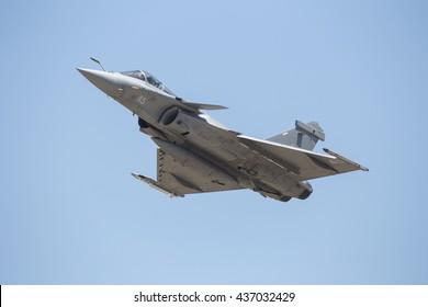 ZARAGOZA-SPAIN - MAY 20: Rafale during Spotter day in NATO TIGER MEET training on may 20, 2016 in Zaragoza,Spain.