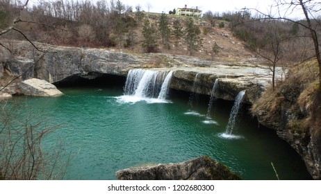 Zarecki krov (Zarečki krov) is a cave below a 10-meters high waterfall below which a deep pond is positined. It is one of the most interesting attractions close to Pazin, Istria (Istra), Croatia.