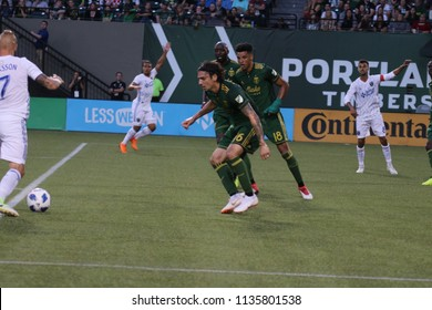 Zarek Valentin defender for the Portland Timbers at Providence Park in Portland Oregon USA July 7,2018.