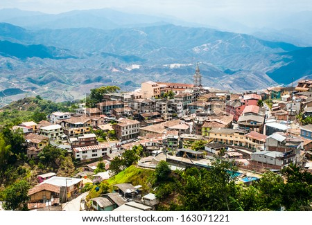 "Zaruma - Town in the Andes, Ecuador. Located in the southern province of El Oro (meaning ""the gold"") in the western range of the Andes, Zaruma is a lovely hilltop town with steep twisted streets"