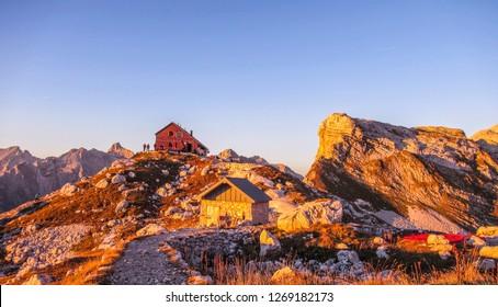 Zasavska koča na Prehodavcih, Triglav National Park, Slovenia - Shutterstock ID 1269182173