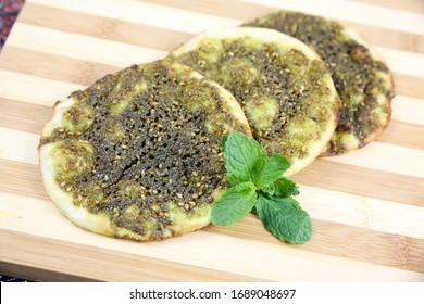 Zataar Manakish lebanese manakeesh arabic food