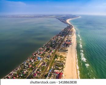 Zatoka sea spit resort in Odessa region in Ukraine.