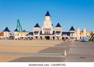 ZATOR, POLAND - AUGUST 08, 2018. Energylandia - a family theme park located in Zator, Poland