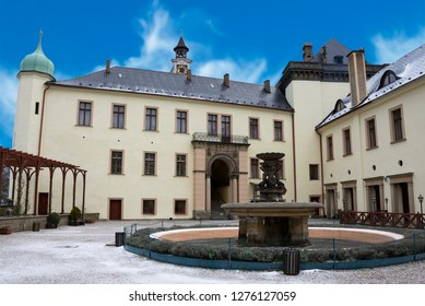 ZBIROH, CZECH REPUBLIC - JANUARY 6, 2018: Zbiroh castle