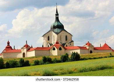 ZDAR NAD SAZAVOU, CZECH REPUBLIC - JUNE 14: UNESCO, The Pilgrim Church of St. John of Nepomuk on Zelena Hora near Zdar nad Sazavou on June 14, 2015 in Czech Republic