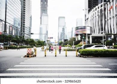 zebra crossing in modern city