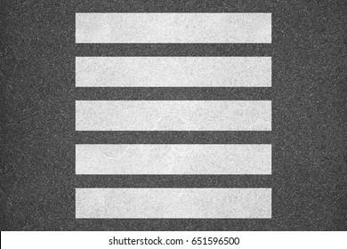 Zebra crossing on the road