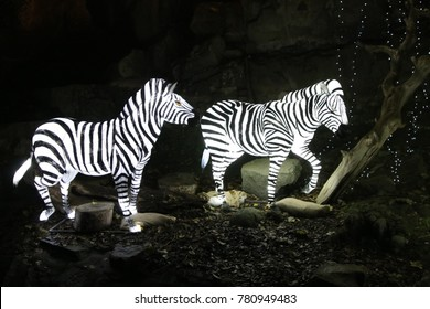 Zebra mannequin at the Chinese light festival