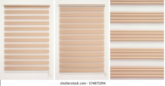 Zebra Roller Blind Curtain - PeachPuff
