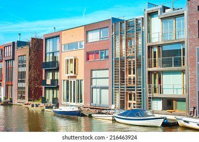 Zeeburg - modern luxury district of Amsterdam. Netherland