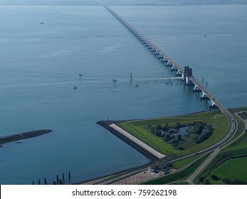 The Zeeland Bridge (Zeelandbrug) is the longest bridge in the Netherlands. The bridge spans the Oosterschelde estuary. It connects the islands of Schouwen-Duiveland and Noord-Beveland