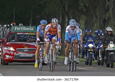ZEIJEN, THE NETHERLANDS - AUGUST 30: Front group in the second stage of the 2009 la Vuelta on August 30, 2009 in Zeijen, The Netherlands