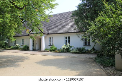 Zelazowa Wola, Mazovian Voivodeship/Poland - July 6, 2012: Birthplace of Frederic Chopin, the great Polish composer and pianist, house and park