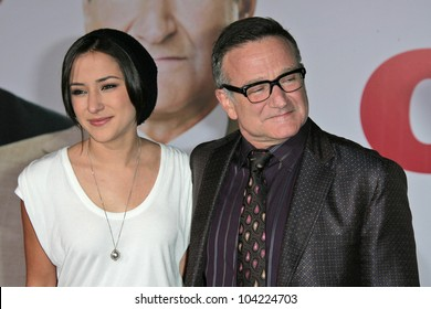 "Zelda Williams and father Robin Williams  at the ""Old Dogs"" World Premiere, El Capitan Theatre, Hollywood, CA. 11-09-09"
