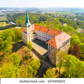 "The Zelena Hora (""Green Mountain"") is a castle on the south side of Nepomuk, in the Czech Republic. It is the home of Saint John of Nepomuk who was born here in around 1340."