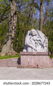 Zelenogradsk (formerly Krantz), Kaliningrad Region, Russia - May 11, 2021: Monument to Adam Mickiewicz, the greatest Polish poet. It is installed in a city park. Sculptor Valery Kovalev.