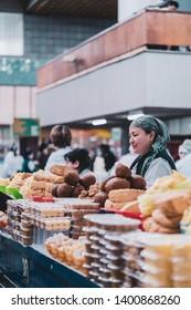 Zelenyy Bazar, Green Bazaar , Almaty / Kazakhstan - April 21 2019