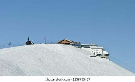 Zell am See, Austria - February 12, 2012: Schmittenhohe top station 2000m
