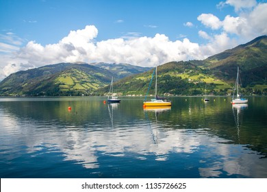 Zell am See lake in Austira
