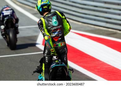 ZELTWEG, AUSTRIA - AUGUST 6, 2021:Italian Yamaha rider Valentino Rossi at Michelin MotoGP of Styria at RedBull Ring circuit