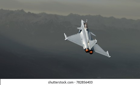 Zeltweg, Styria, Austria, Sept. 02, 2016: Eurofighter Typhoon, a twin-engine, canard-delta wing, multirole fighter.
