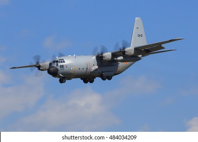 ZELTWEG, STYRIA, AUSTRIA - SEPTEMBER 02: Hercules C130 of the spain airforce at Airpower in Zeltweg, Austria