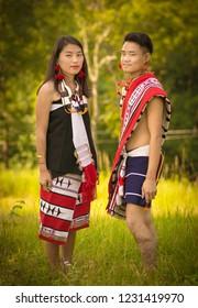 A zeme tribe couple - Shutterstock ID 1231419970