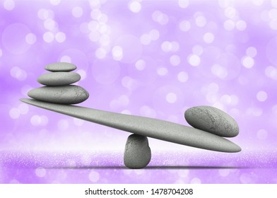 Zen basalt stones on a abstract at blurred background