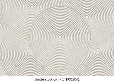 Zen circle pattern in sand