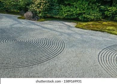 Zen garden detail in Japan