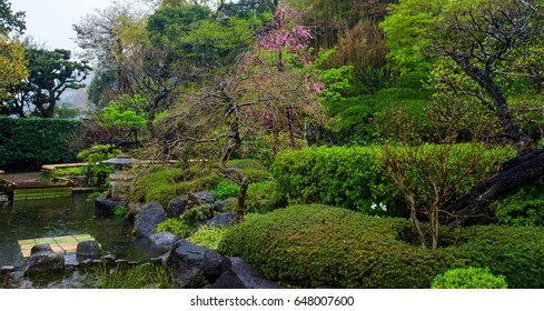 Zen Garden of the Hasadera Temple in Kamakura, Japan