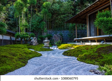 Zen garden in a house in Kamakura, Japan
