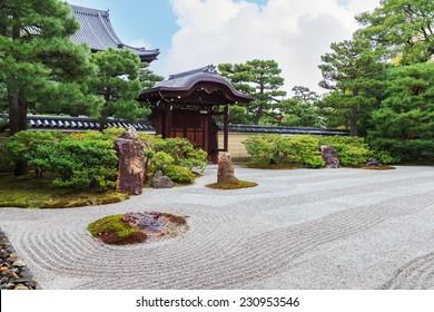 Zen Garden at Kennin-ji Temple in Kyoto, Japan