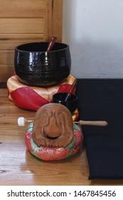 Zen gongs, big bowl, traditional zen buddhist wooden fish gong mokugyo