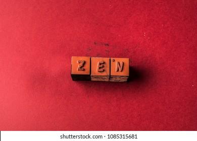 Zen headline made by letter printers