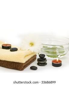 zen like spa with flower