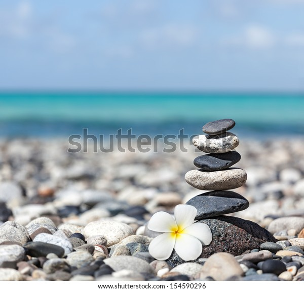 Zen Meditation Spa Relaxation Background Balanced Stock Photo Edit Now 154590296