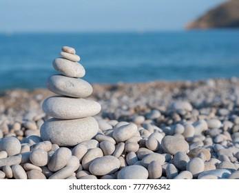 Zen pile of stones