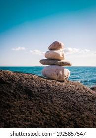 Zen rocks seascape on Cape Cod