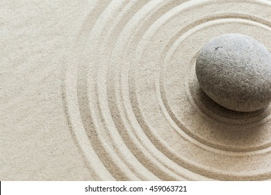 Zen stone garden