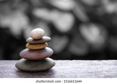 Zen stone pyramid, symbol of life balance