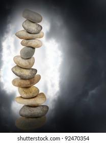 Zen stones and clouds