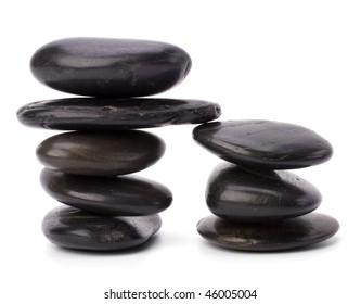 zen stones isolated on white background