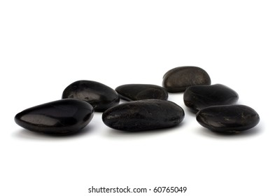 zen stones isolated on the white background