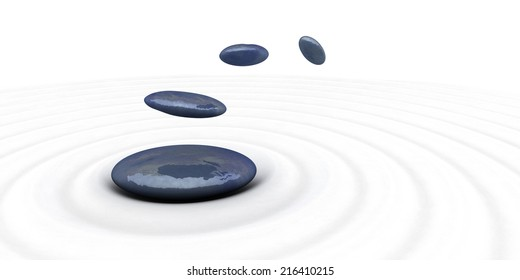 zen stones for meditation and relax